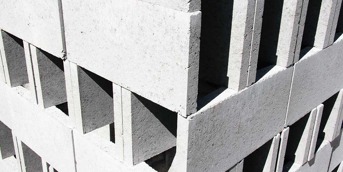 stack of concrete blocks